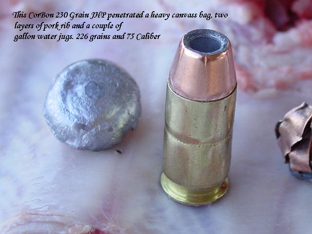 CorBon Jacketed Hollow Point Loads